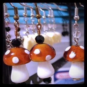 Handmade Mushroom earrings